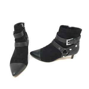 Rebecca Minkoff Saskia Buckle Ankle Booties Shoes